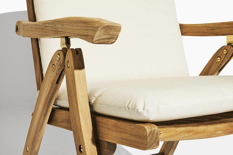havestol med vipperyg trip trap- fem positionsstol fra scanteak havemøbler i kerne teak