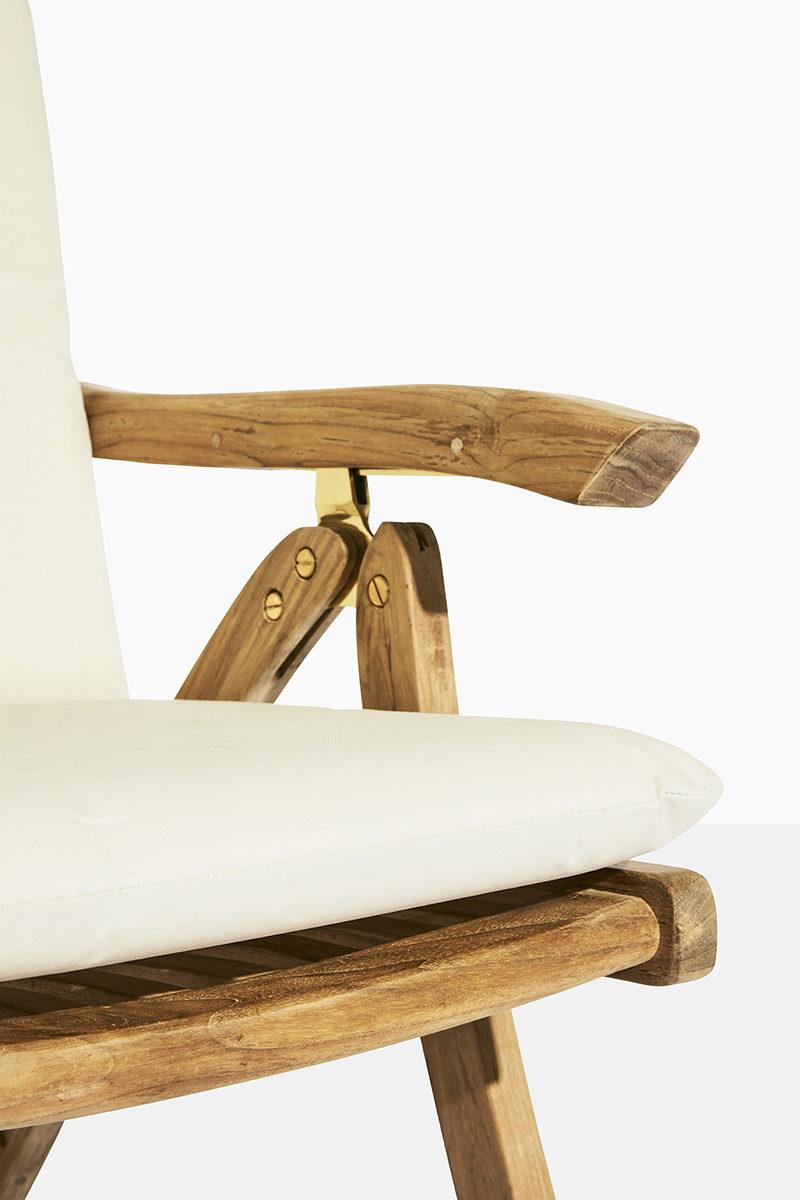 havestol med vipperyg i teaktræ - fem positionsstol fra scanteak havemøbler i kerne teak