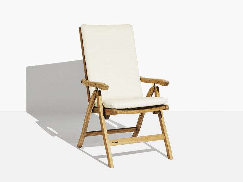 havestol med vipperyg skagerrak i teak- fem positionsstol fra scanteak havemøbler i kerne teak