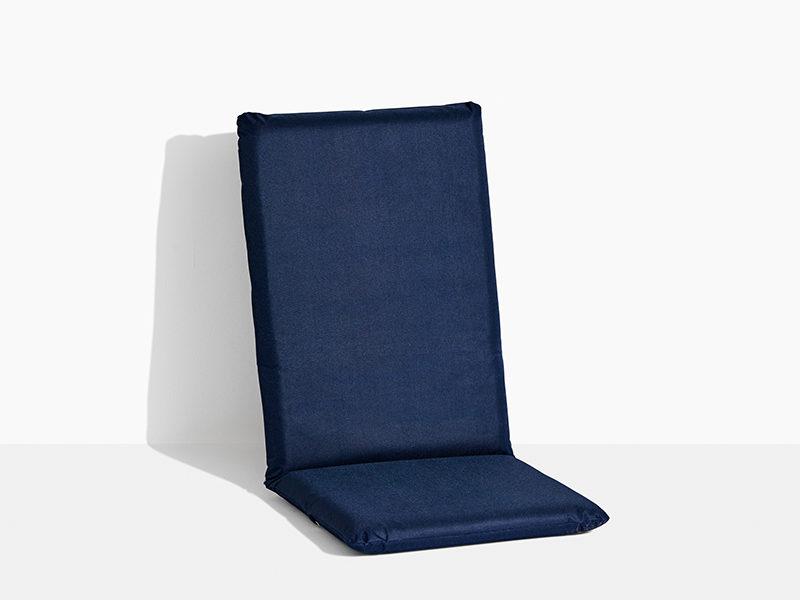hynde til havestol i teak træ positionsstol med vippefunktion blå