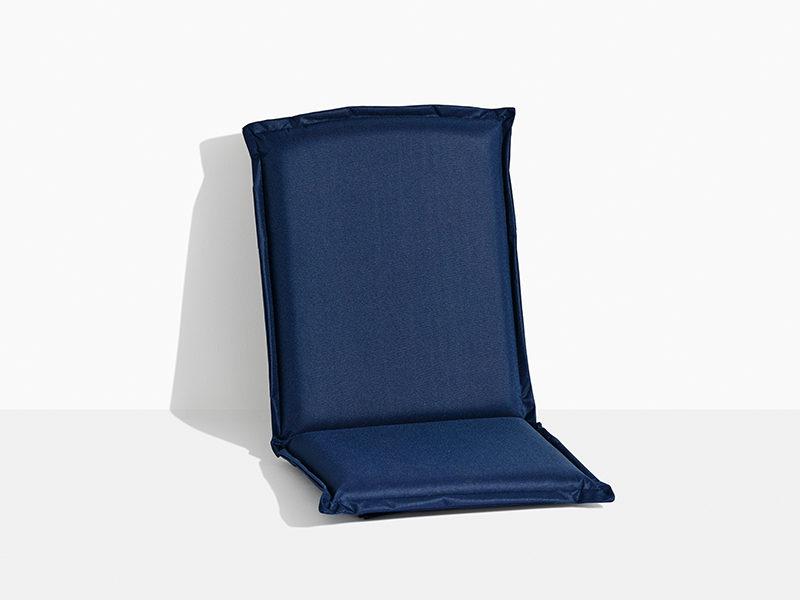 hynde til havestol i teak træ foldestol med klapsammen funktion blå