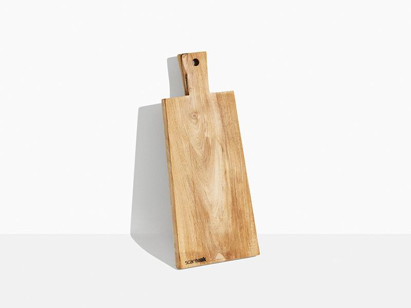 skærebræt i træ teak. Flot skærebræt i teaktræ. 45 cm. Teak træ