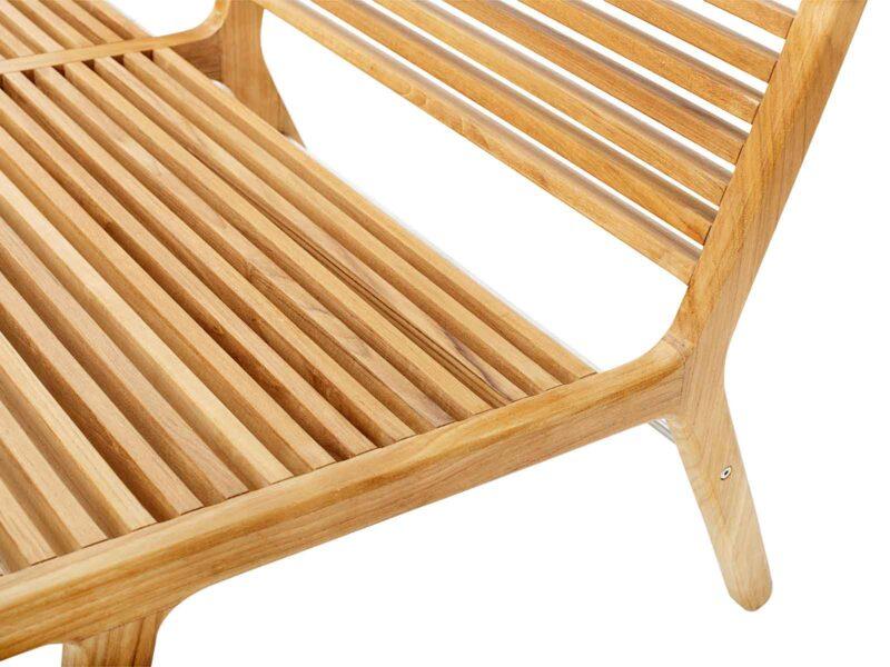 Lounge Bench - RIB - Teak